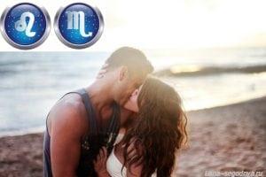 Влюбленная пара на берегу моря