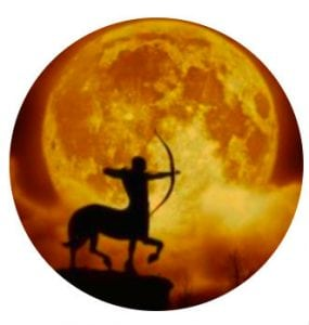 стрелец и луна