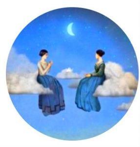 луна и раздумье человека