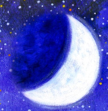 рисунок растущей луны