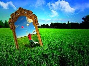 зеркало и трава