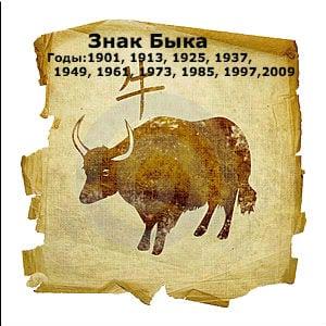 годы быка