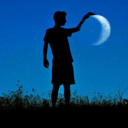 игра с луной