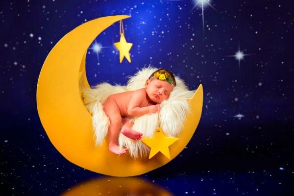 малыш и луна