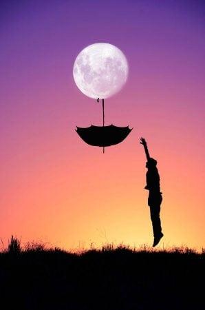луна и зонт