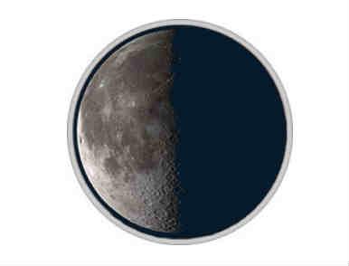 3 четверть луны