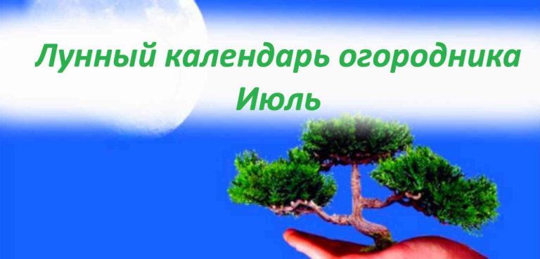 Лунный календарь на июль