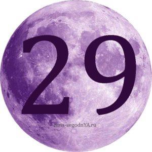 сегодня лунный день 29