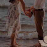 пара влюбленных на море
